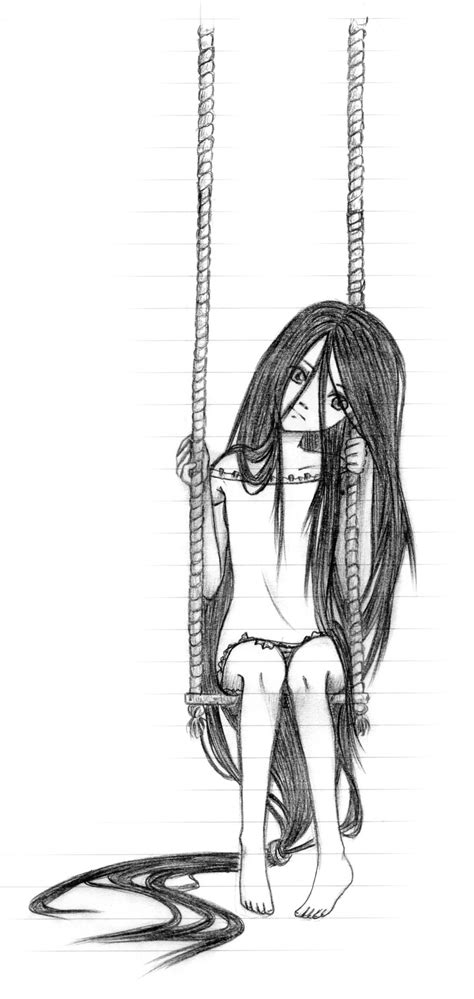 draw a swing girl on the swing by gaalea on deviantart