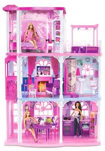 Barbie Dreamhouse by Barbie 3 Story Dream Town House 55 Pieces W Furniture