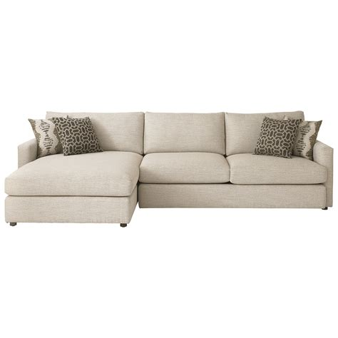 bassett furniture sectional sofas bassett contemporary sectional with left arm facing