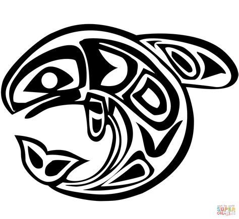 printable haida art haida art whale coloring page free printable coloring