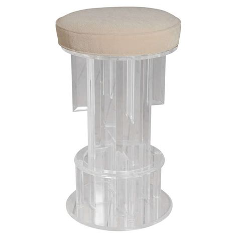 Lucite Stool by Lucite Bar Stool At 1stdibs