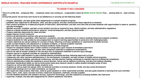 Work Experience Letter Primary School Experience Certificate Sle For School Principal 1000 Images About And Principal