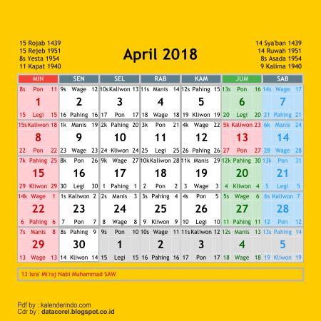 Kalender 2018 Jawa Cdr Kalender 2018 Cdr 12 Bulan Free Corel Draw Files