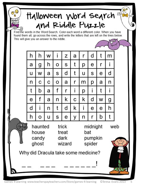 printable halloween puzzle games fun games 4 learning halloween literacy freebies