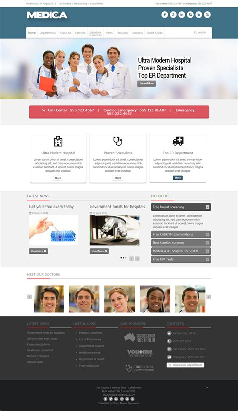 themeforest joomla medica joomla premium responsive template free demo at