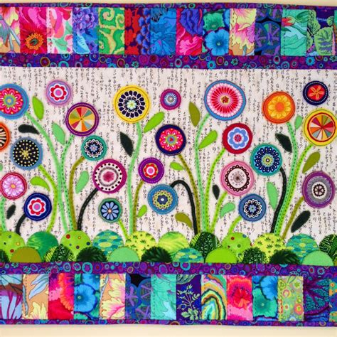 felt applique patterns flower garden wool felt applique by wendy s quilts and