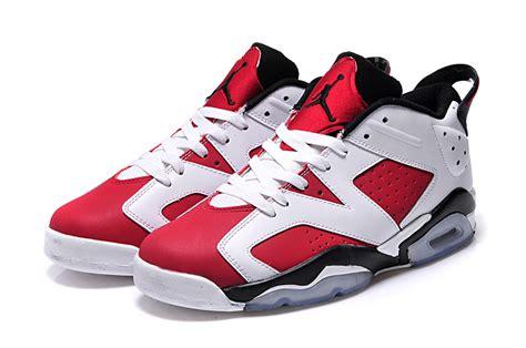 air 6 carmine white carmine black shoes for