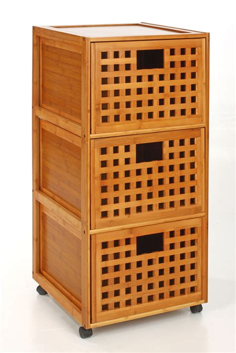 Gifi Meuble Salle De Bain 6314 by Meuble Sdb 3 Tiroirs Bambou