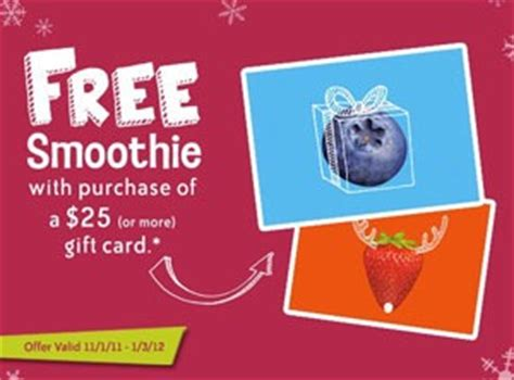 Jamba Juice Gift Card Promotion - jamba juice holiday gift card promotion with our best denver lifestyle blog