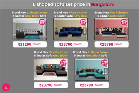 sofa set in bangalore with price how to find l shaped sofa set for the best prices in