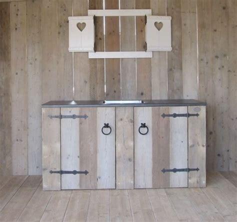 keukenblok tuin keukenblok van steigerhout steigerhouten meubels op maat