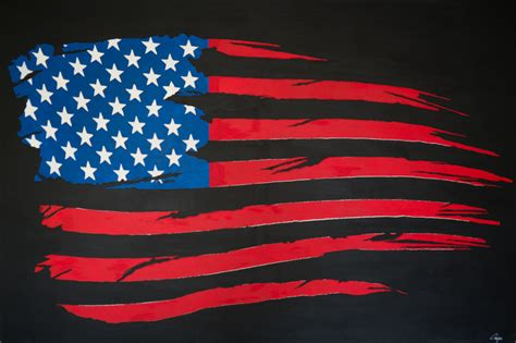 saatchi artist edouard cos acrylic 2013 painting quot american flag quot