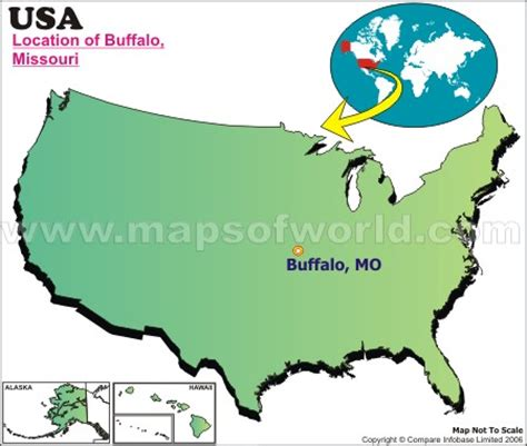 buffalo in usa map where is buffalo missouri
