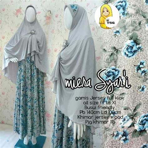 Gamis Muslim Payung Busui Jersey Maxi Dress Klok Motif Murah 2 gamis jersey mira syari b004 baju muslim terbaru