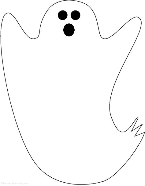 blank ghost coloring pages adjectives describing the ghost printable worksheet