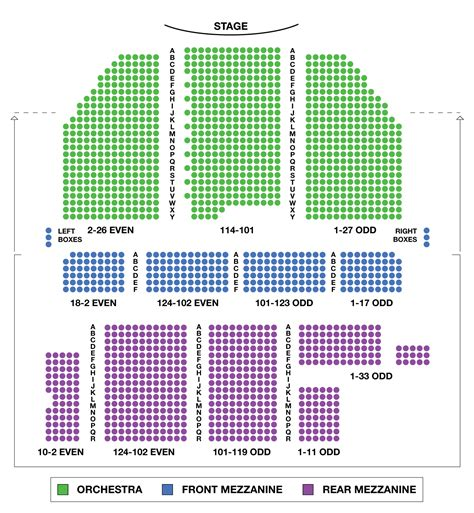 theatre seating chart broadway theatre large broadway seating charts