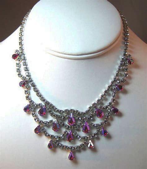 gloriously glitzy b david rhinestone necklace from