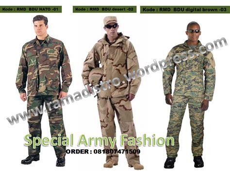 jual aneka baju seragam pdl loreng militer army