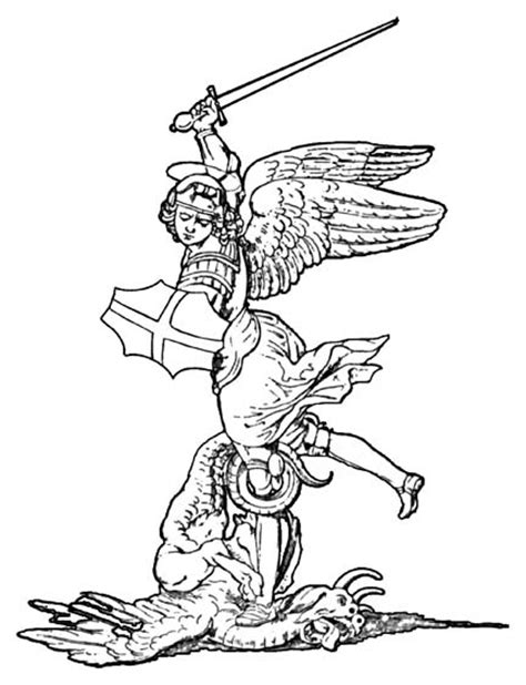 archangel coloring page free st michael the archangel coloring pages