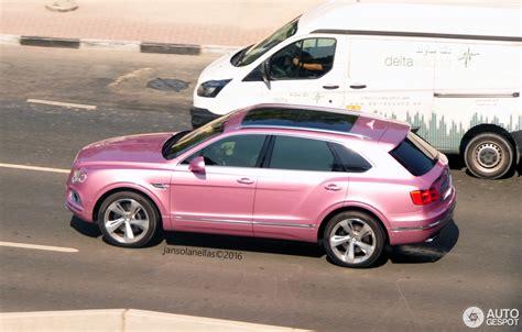 pink bentley passion pink bentley bentayga shows up in dubai offends