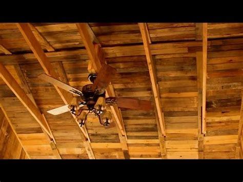 rustic wood ceiling homemade pallet building