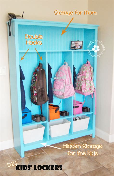 How To Build A Locker Shelf by White Diy Storage Lockers No Mudroom No Problem