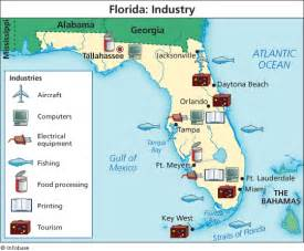 florida industry map florida industry map