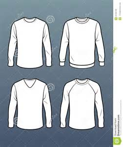 set of 4 long sleeve t shirt templates stock illustration