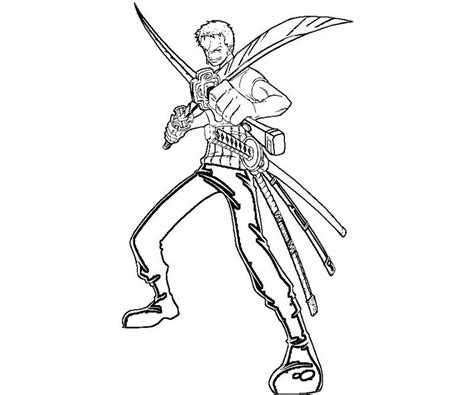 coloring page zoro roronoa zoro 7 coloring crafty teenager