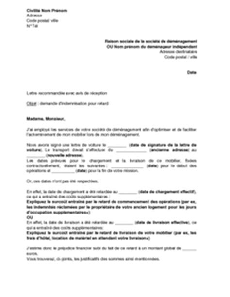 Modeles De Lettre D Avertissement Lettre De Demande D Indemnisation Au D 233 M 233 Nageur Pour Retard Mod 232 Le De Lettre Gratuit Exemple
