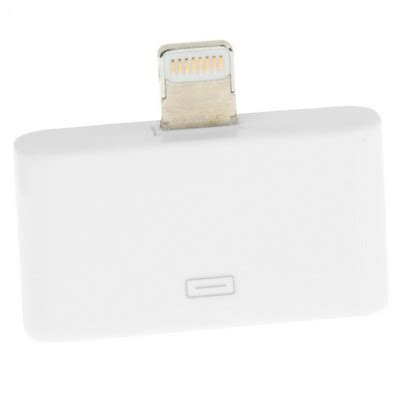 Apple 30 Pin To 8 Pin Lightning Converter Adapter Putih usb to 30 pin apple cable with lightning 8 pin