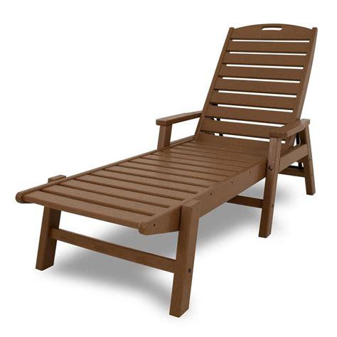 shop polywood nautical plastic chaise lounge chair  slat seat  lowescom