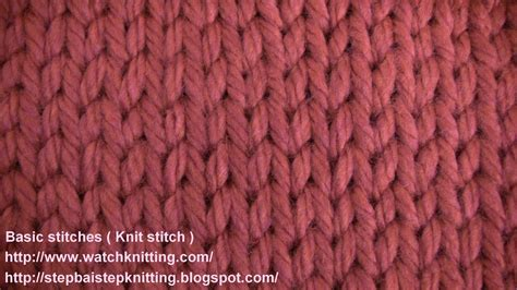 basic knit stitch stokinett stitch knit stitch knitting lesson