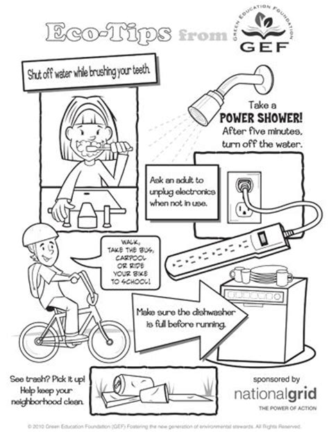coloring pages on water conservation printable eco tips poster for coloring earth day