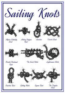 Nautical knot illustration nautical sailing knots