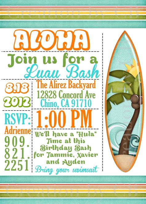 potluck invitation template free printable luau bash invitation birthday invitation potluck