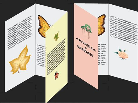 How To Fold A Paper Like A Brochure - how to make a brochure in adobe illustrator 10 steps