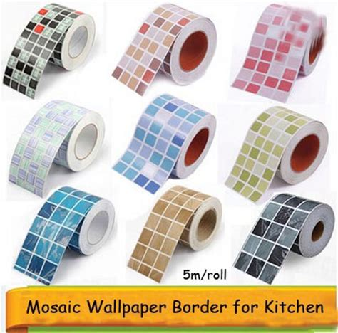 Home Decor Tile Stores by Self Adhesive Mosaic Wallpaper Border Wall Sticker