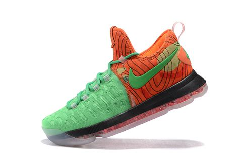 kd shoes for for sale nike kd 9 green orange mens basketball shoes for sale free