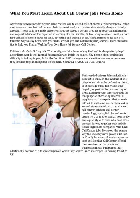 what you must learn about call center from home