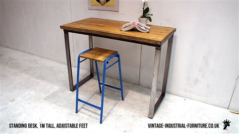 vintage industrial loop leg desk