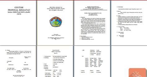 makalah format kegiatan bk contoh proposal kegiatan mos mopdb format microsoft word