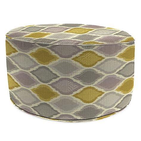 round outdoor ottoman buy outdoor round pouf ottoman in sunbrella 174 empire dawn