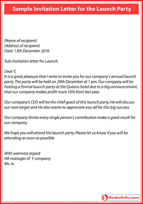 How To Write An Invitation Letter For Annual General Meeting how to write invitation letter for annual