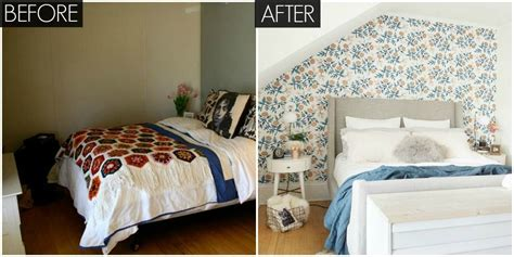 before after a small space bedroom makeover lonny small floral bedroom makeover bright bedroom before and