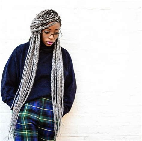 grey braids hair trend alert grey silver braids welcome to envogue