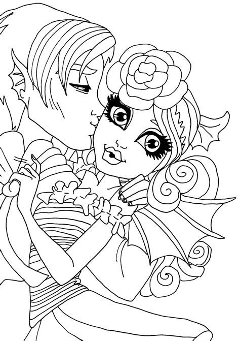 monster high rochelle coloring pages rochelle and garrott by elfkena