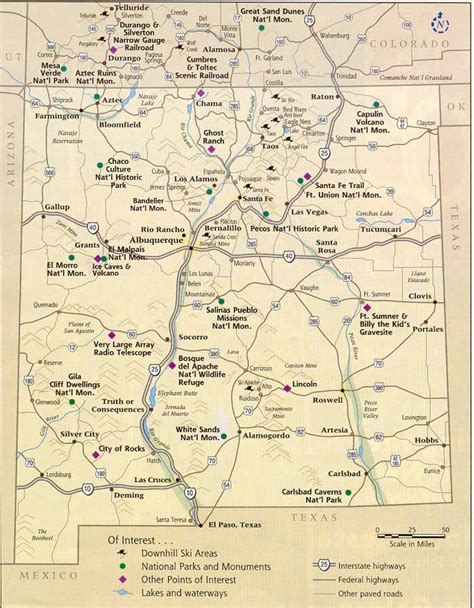 map of nm springs new mexico map