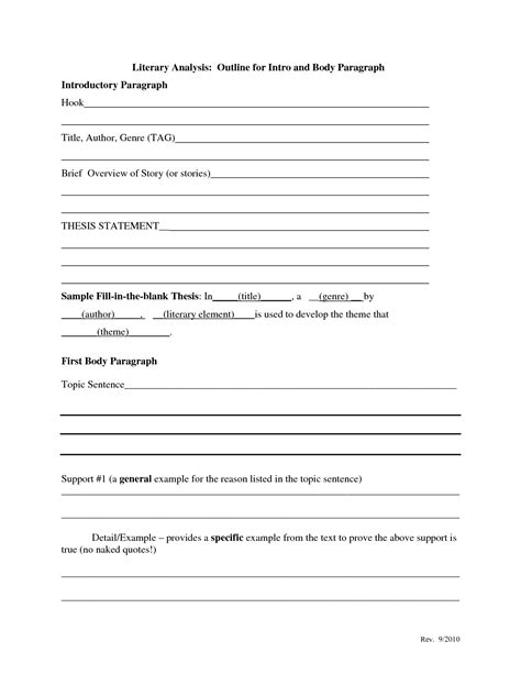 theme essay outline exles of theme statements template best template