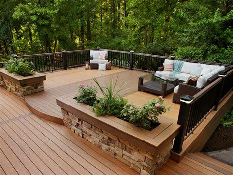 decks raised vs grade level hgtv